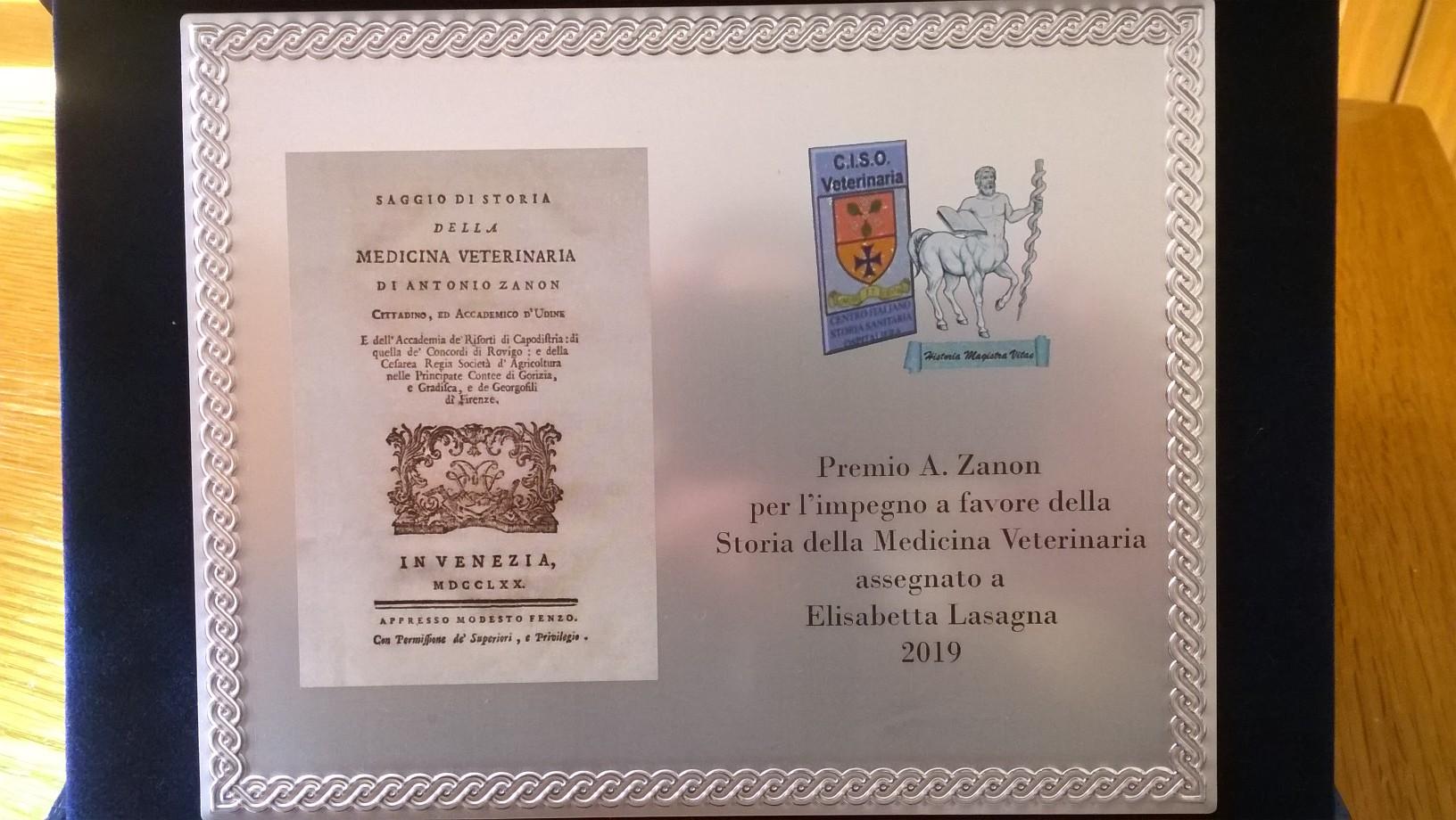 EL premio Zanon