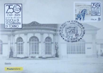 cartolina, francobollo e annullo dedicato